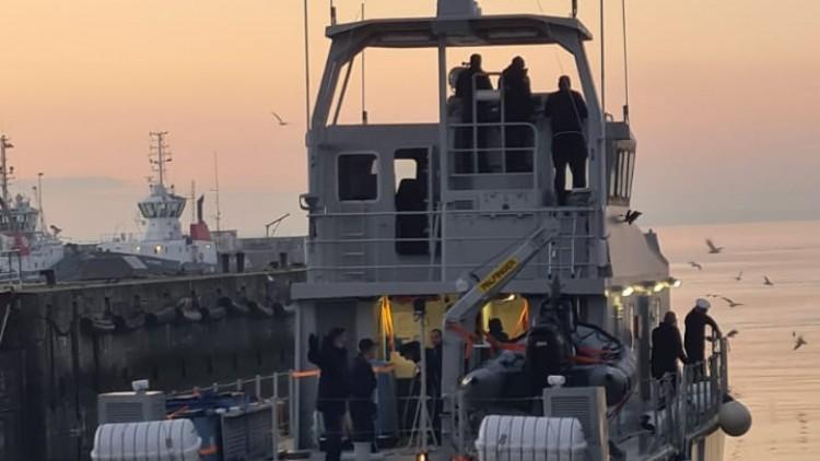 """Départ du navire """"El Adhra"""" pour l'Algérie"""